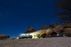 Nightcamp by Spitzkoppe