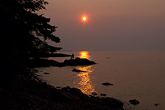 Sunset in Lutsen